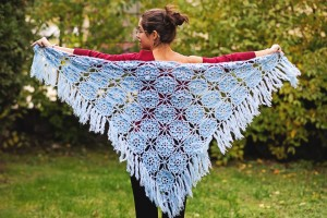 big crochet shawl