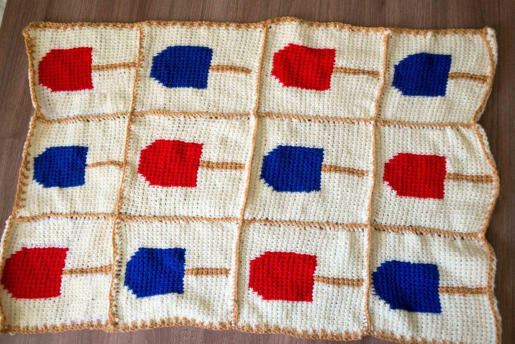 creamsicle crochet baby blanket