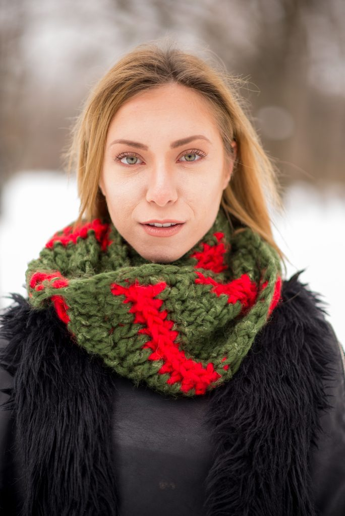 The Christmas Wreath cowl
