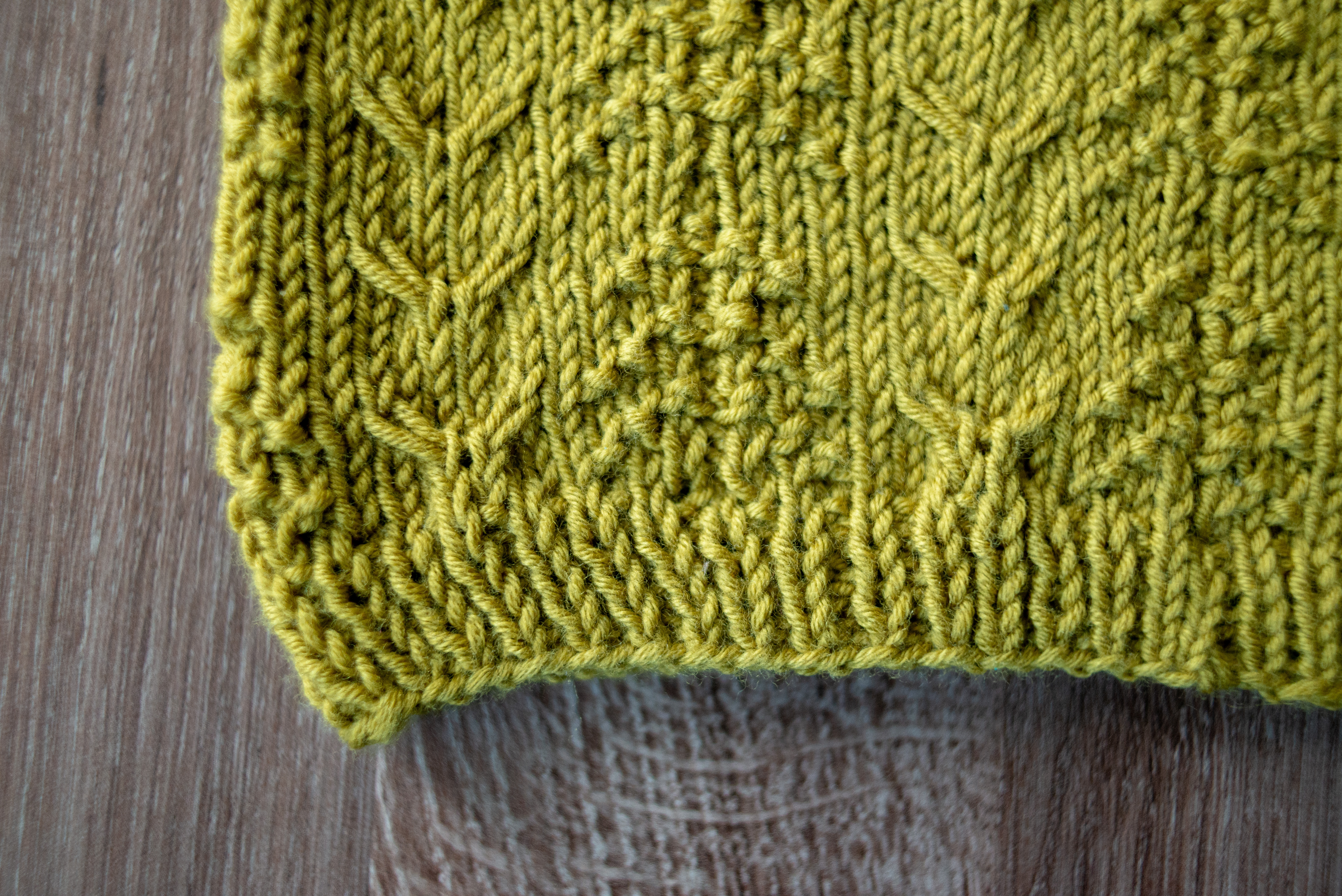 Deer in the Woods cowl knitting pattern