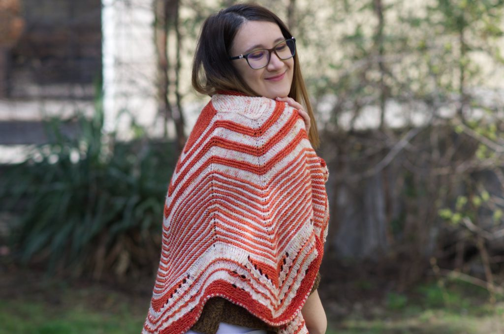 Starflake knitting shawl by Stephen West