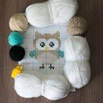 owl baby blanket yarn kit