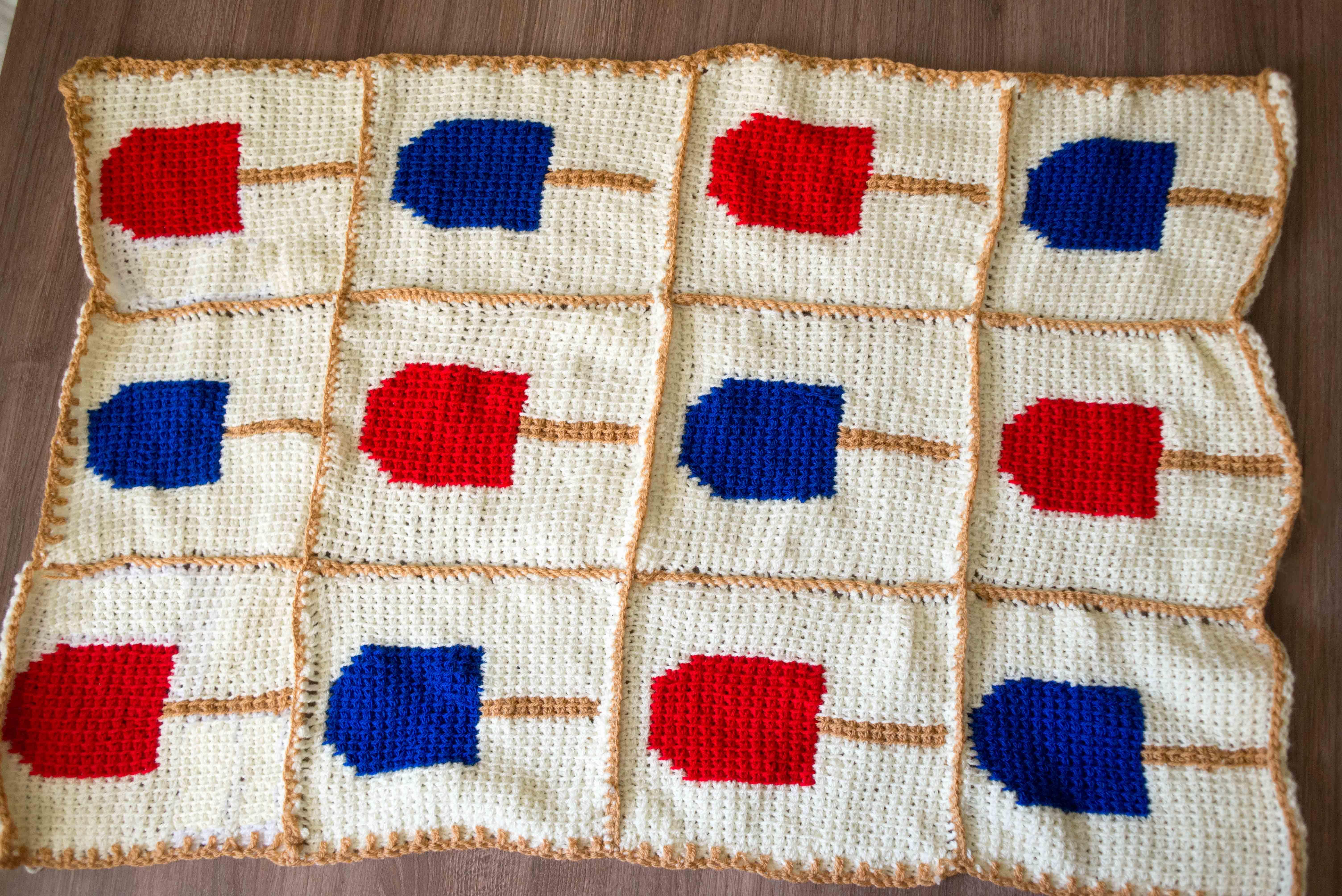 Creamsicle Crochet baby blanket by Noorain Nizami