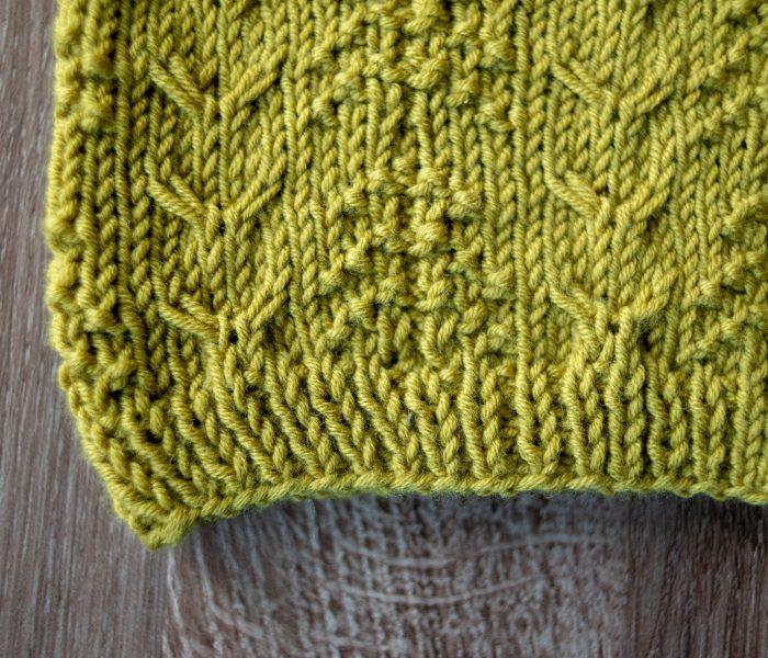 Deer in the Woods cowl knitting pattern
