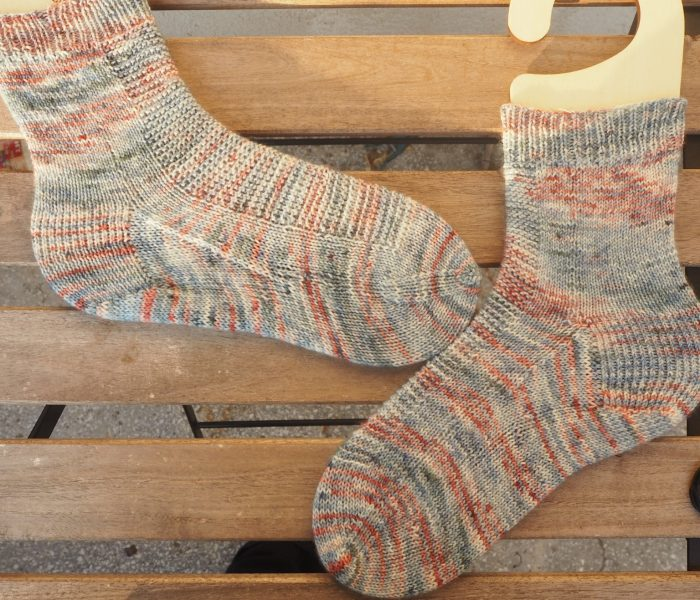 Rye Light by Tincanknits (socks finished object)